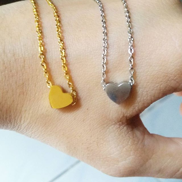 Spring Inspiration: Gold and Silver Heart Necklaces